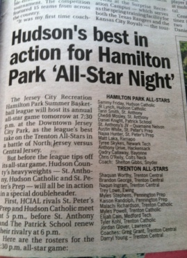 Hamilton Park All-star Journal