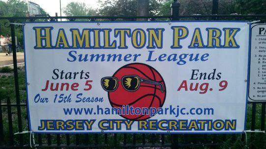 Hamilton Park Summer League 15th Season Banner