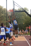 The Hamilton Park All-Stars played the Dominican Republic All-Stars at Hamilton Park in Jersey City on Monday, July 31, 2017. Snyder's Daeshawn Emanuel goes up for a lay up. (Michael Dempsey | The Jersey Journal)