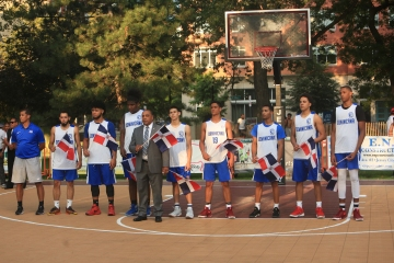 The Hamilton Park All-Stars played the Dominican Republic All-Stars at Hamilton Park in Jersey City on Monday, July 31, 2017. (Michael Dempsey | The Jersey Journal)