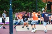 St. Peter's Prep defeated Matawan 50-20 in a Hamilton Park Summer League basketball game on Monday, July 9, 2018. St. Peter's Prep Jadon Cabel drives to the hoop.