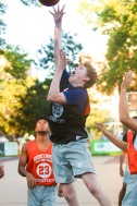 St. Peter's Prep defeated Matawan 50-20 in a Hamilton Park Summer League basketball game on Monday, July 9, 2018. St. Peter's Prep Gavin O'Farrell takes a shot.