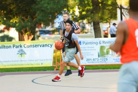 St. Peter's Prep defeated Matawan 50-20 in a Hamilton Park Summer League basketball game on Monday, July 9, 2018.St. Peter's Prep Chris Anderson dribbles down the court.